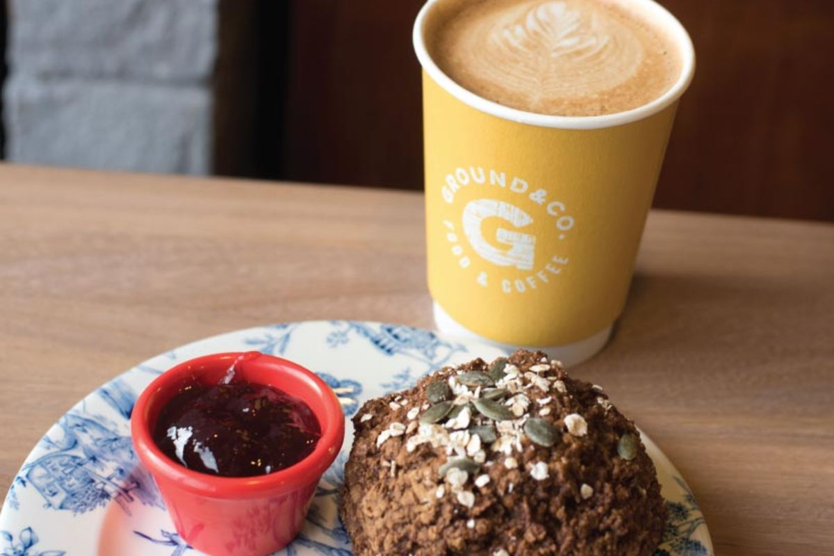 Ground & Co Coffee and Scone